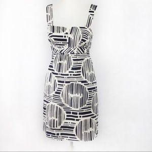 Trina Turk Navy+White Geometric Dress w/ Straps S